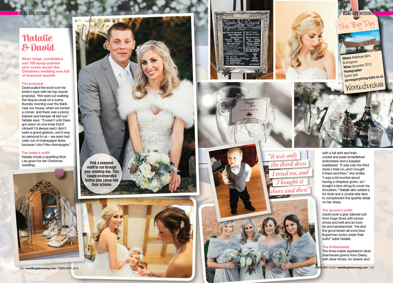 Redhouse Barns Wedding Magazine Feature PAGE 1