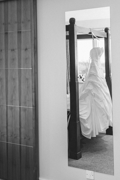 Wedding Dress in bridal suit at Granary Hotel