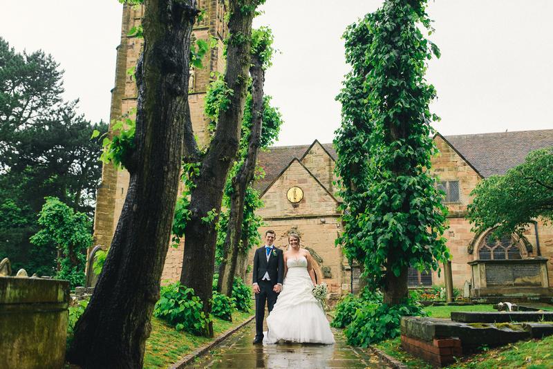 St Nicolas Church Kings Norton wedding photography
